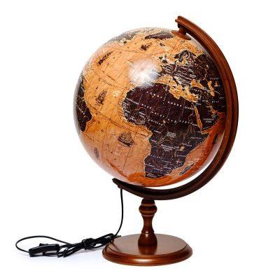 Глобус с подсветкой парусники подарочный Glowala 320 мм