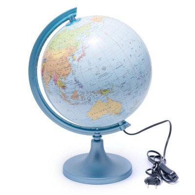 Глобус 250 политико-физический с подсветкой (украинский)