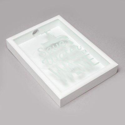 Копилка для винных пробок BST «Кран» белая, 38х28 см.