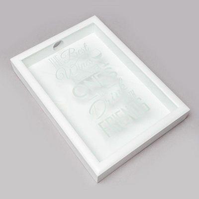 Копилка для винных пробок BST «The best» белая, 38х28 см.
