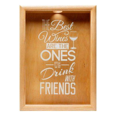 Копилка для винных пробок BST «The best» ясень, 38х28 см.