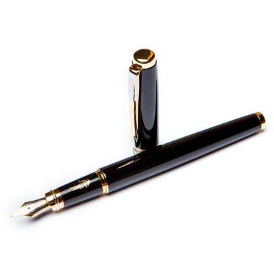 Перьевая ручка на подарок BST «Crocоdile» черный корпус