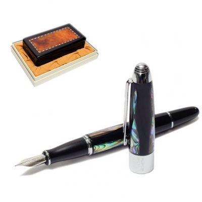 Ручка перьевая подарочная в футляре DUKE «ЖЕМЧУЖИНА»  14 см перламутровая