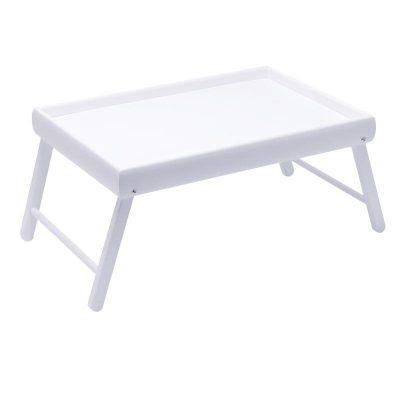Столик на ножках для завтрака мини BST «Snow» 38×26 белый