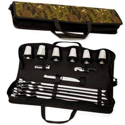 Набор для шашлыка, пикника подарочный BST 50х13х8 см для шести шашлыков