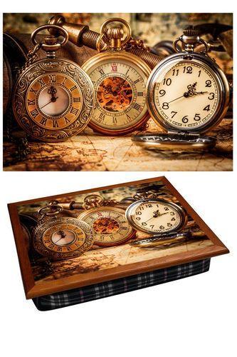 Поднос на подушке «Старинные часы»