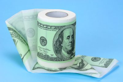 Туалетная бумага прикольная «100 долларов»