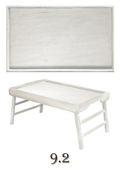 Столик поднос на ножках S «Белый»