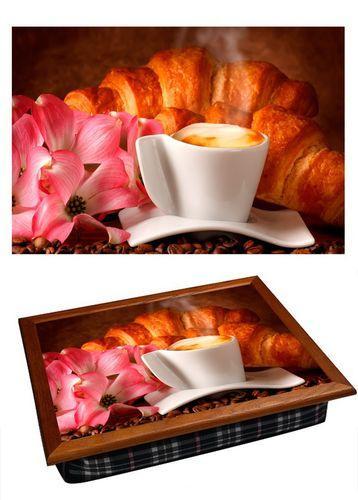 Поднос на подушке «Кофе и круассан»