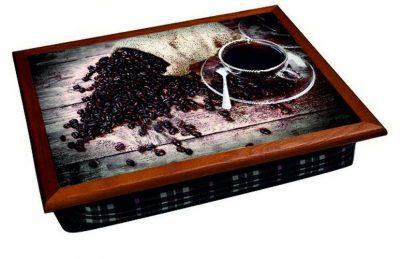 Поднос на подушке «Рассыпанный кофе»
